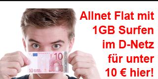 freenetmobile Sonderaktion: Allnet Flat im D-Netz für unter 10 €