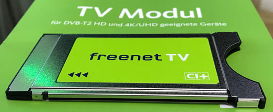 freenet TV CI+ Modul (HD-Modul) für DVB-T2 HD