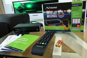 Lieferumfang Strong SRT 8541 (DVB-T2 HD Receiver)